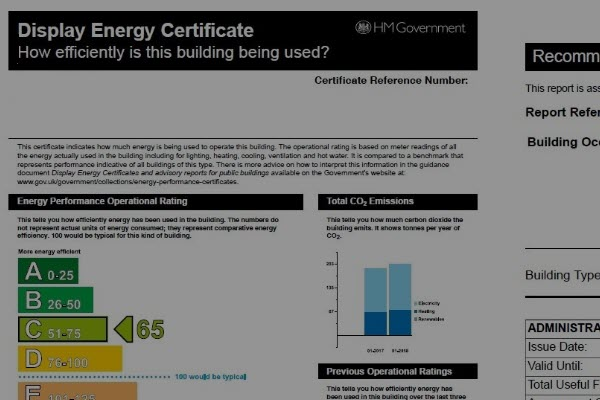 Display Energy CERTIFICATES